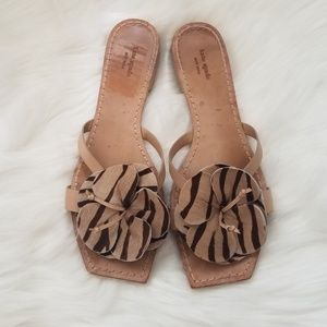 Kate Spade Flower Sandals Tiger Print